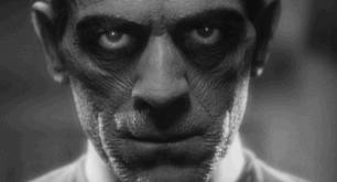 Karloff as he appears for most of the film