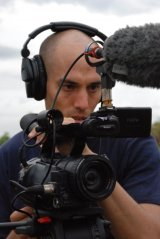 Director Joshua Oppenheimer at work