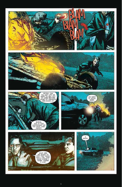 Not fond of a lot of the art in the series, but love the way the action is written... BLAM and all that